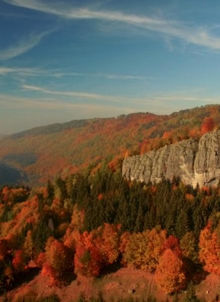 Jánošíkova skala z vtáčej perspektívy