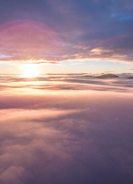 Inverzia z Podkonických Plešov z vtáčej perspektívy