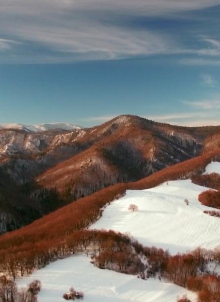 Krížna a Kremnické vrchy z vtáčej perspektívy
